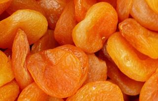 Alimentos con hierro para embarazadas: Albaricoques secos