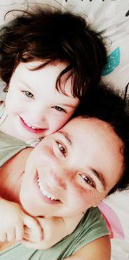 Marta con su hija